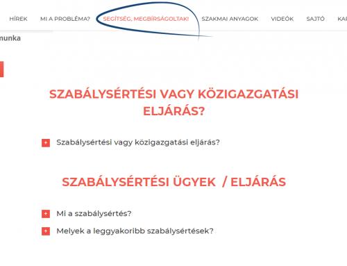 A szabálysértési eljárás mellett most már a közigazgatási bírságról is részletesen tájékozódhatsz a honlapon